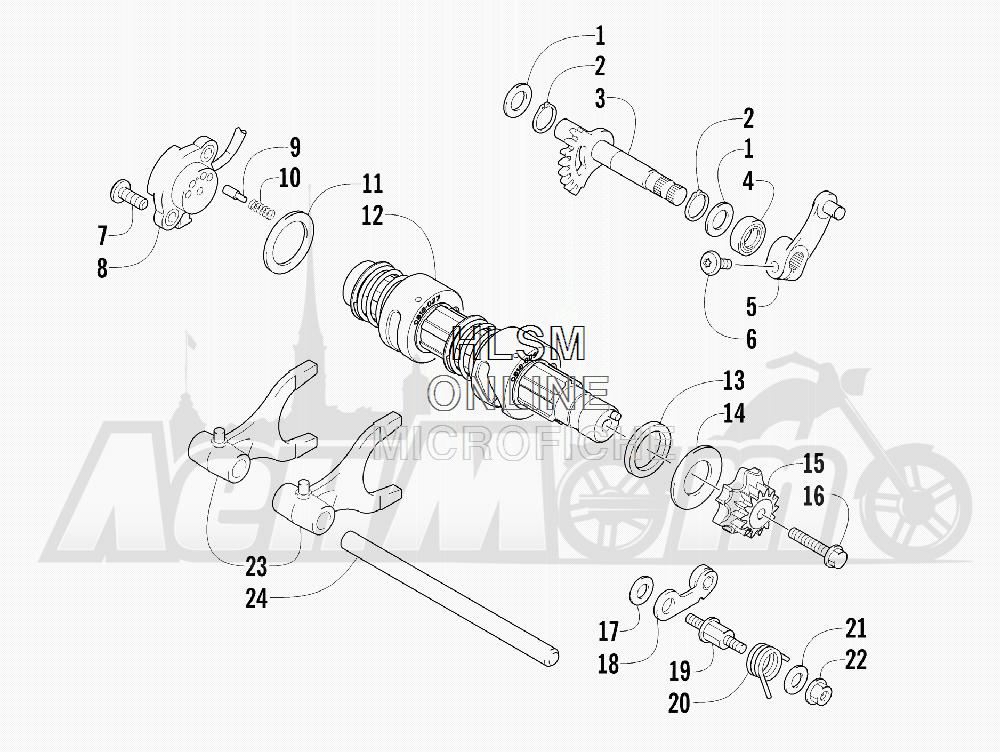 Запчасти для Квадроцикла Arctic Cat 2012 550 BLACK [A2012ICO4EUSP] Раздел: GEAR SHIFTING ASSEMBLY | шестерня переключение в сборе