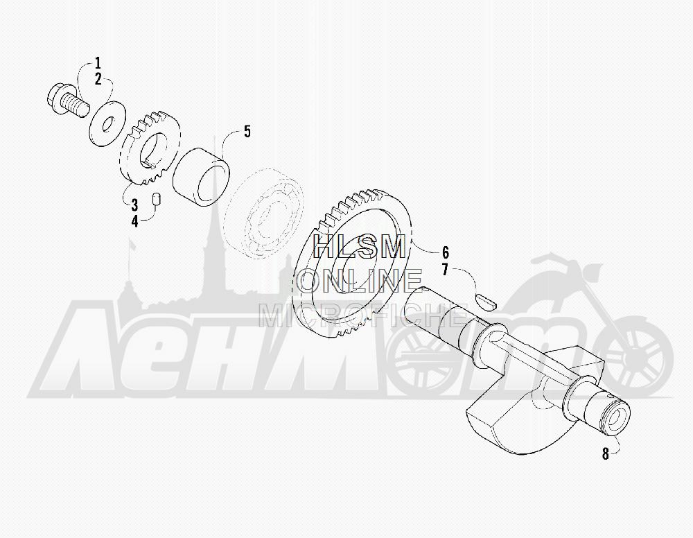 Запчасти для Квадроцикла Arctic Cat 2012 550 BLACK INTERNATIONAL [A2012ICO4EOSP] Раздел: CRANK BALANCER ASSEMBLY | щека коленвала балансир в сборе