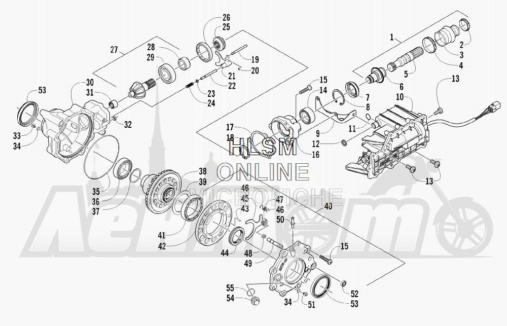 Запчасти для Квадроцикла Arctic Cat 2011 550 TRV GT COPPER [A2011TBO1PUSX] Раздел: FRONT DRIVE GEARCASE ASSEMBLY | перед ведущий редуктор в сборе