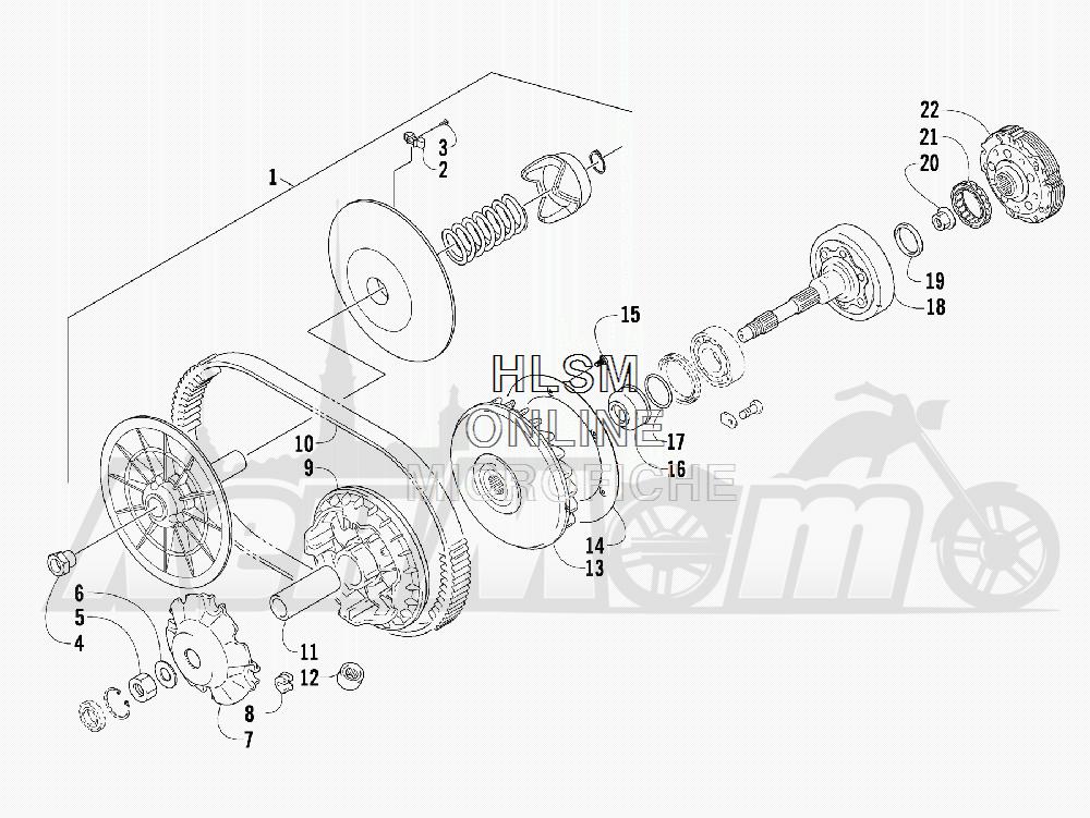 Запчасти для Квадроцикла Arctic Cat 2011 550 TRV GT COPPER [A2011TBO1PUSX] Раздел: TRANSMISSION ASSEMBLY | трансмиссия в сборе