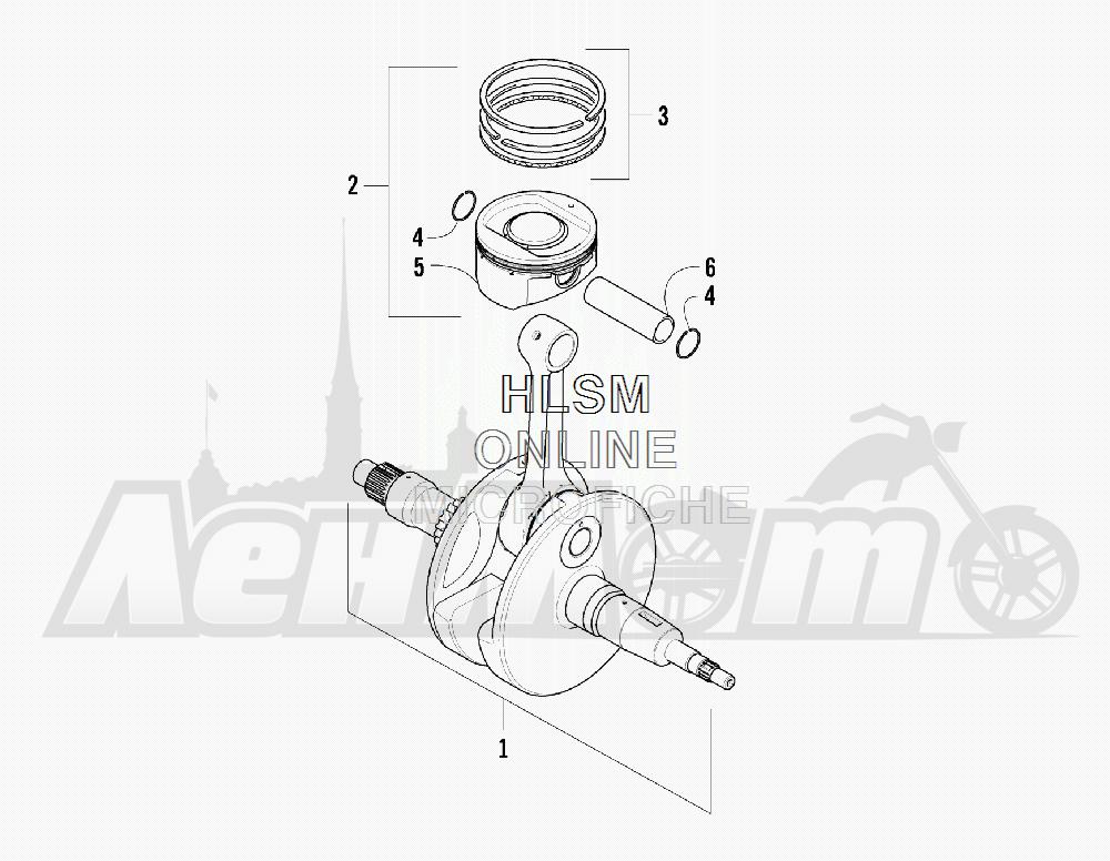 Запчасти для Квадроцикла Arctic Cat 2011 550 TRV GT COPPER [A2011TBO1PUSX] Раздел: CRANKSHAFT AND PISTON ASSEMBLY | коленвал и поршень в сборе