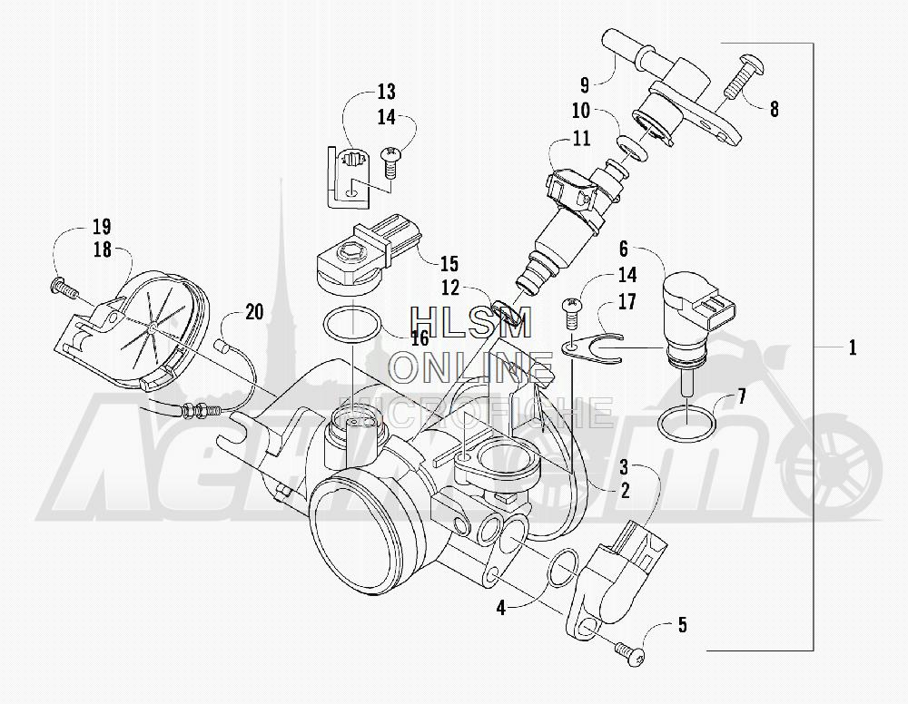 Запчасти для Квадроцикла Arctic Cat 2011 550 TRV GT COPPER [A2011TBO1PUSX] Раздел: THROTTLE BODY ASSEMBLY | дроссельный узел в сборе