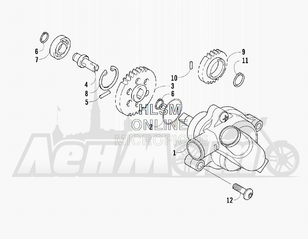 Запчасти для Квадроцикла Arctic Cat 2011 550 TRV GT COPPER [A2011TBO1PUSX] Раздел: WATER PUMP ASSEMBLY | водяная помпа в сборе