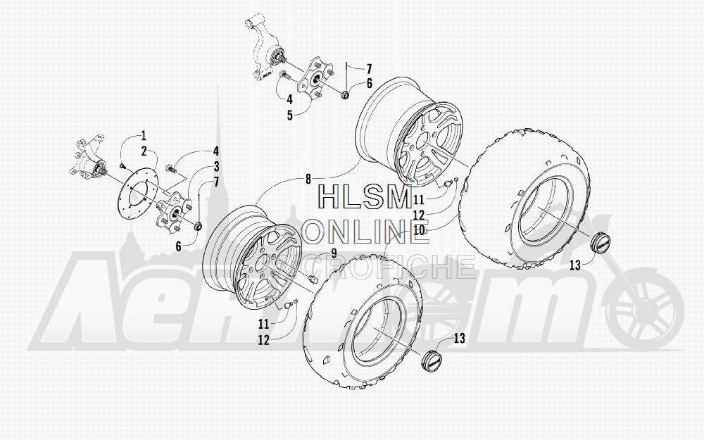 Запчасти для Квадроцикла Arctic Cat 2011 550 TRV GT COPPER [A2011TBO1PUSX] Раздел: WHEEL AND TIRE ASSEMBLY | колесо и покрышка в сборе