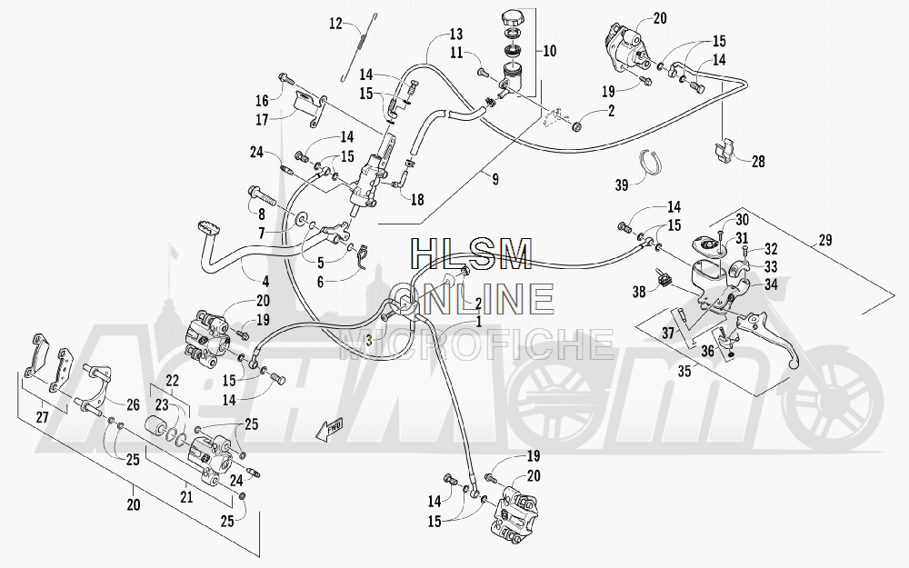 Запчасти для Квадроцикла Arctic Cat 2011 550 TRV GT COPPER INTERNATIONAL [A2011TBO1POSX] Раздел: HYDRAULIC BRAKE ASSEMBLY | гидравлические тормоза в сборе