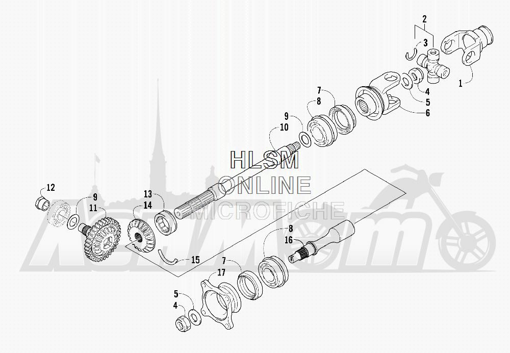 Запчасти для Квадроцикла Arctic Cat 2011 550 TRV GT COPPER INTERNATIONAL [A2011TBO1POSX] Раздел: SECONDARY DRIVE ASSEMBLY | вторичный привод в сборе