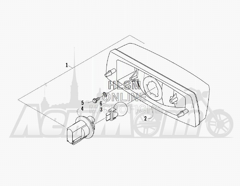 Запчасти для Квадроцикла Arctic Cat 2011 550 TRV GT COPPER INTERNATIONAL [A2011TBO1POSX] Раздел: TAILLIGHT ASSEMBLY   задний фонарь в сборе