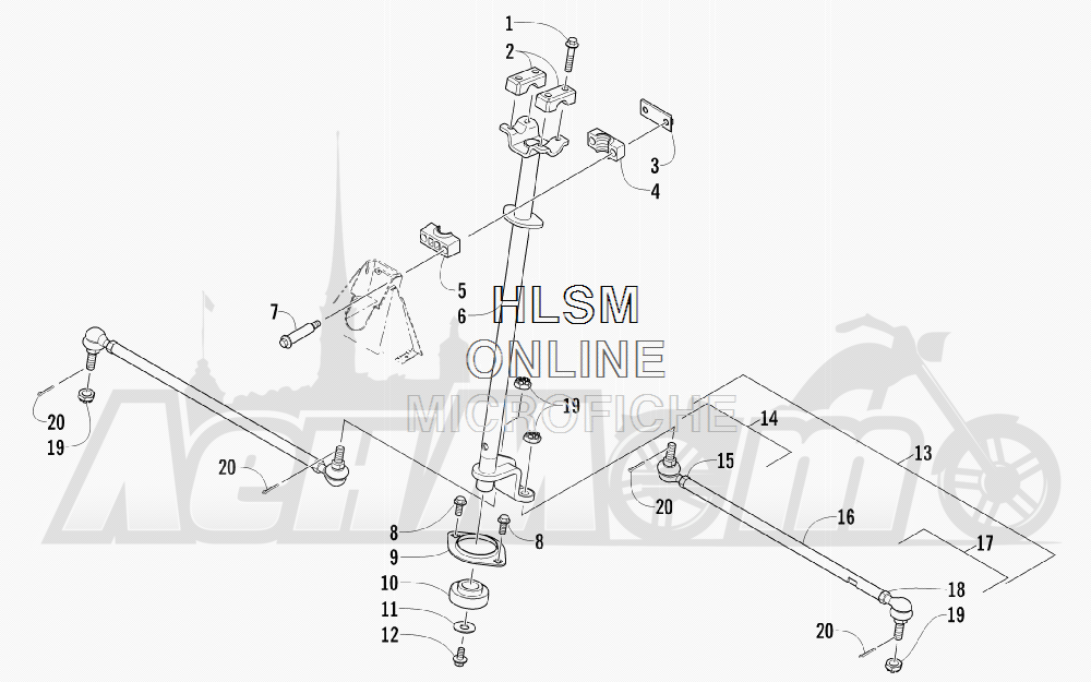 Запчасти для Квадроцикла Arctic Cat 2011 650 GREEN [A2011ICS4BUSG] Раздел: STEERING ASSEMBLY (VIN: 250001 AND UP) | рулевое управление в сборе (VIN: 250001 и UP)