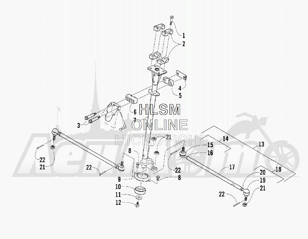 Запчасти для Квадроцикла Arctic Cat 2011 700 CAT GREEN [A2011IBT4EUSZ] Раздел: STEERING ASSEMBLY (UP TO VIN: 250000) | рулевое управление в сборе (UP на VIN: 250000)