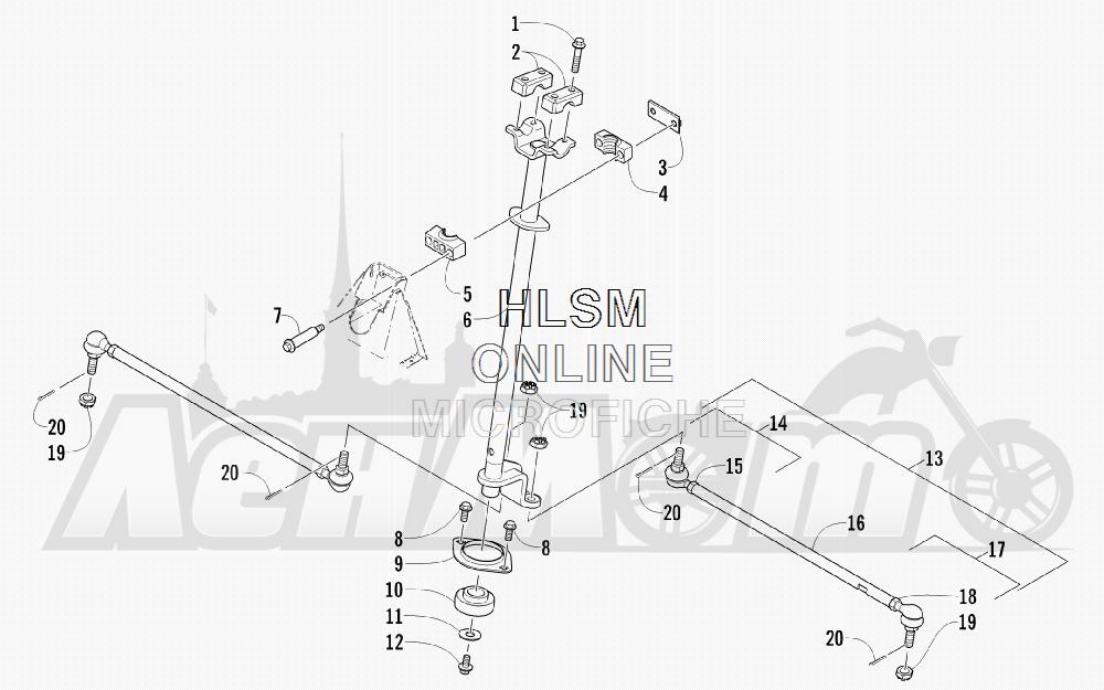 Запчасти для Квадроцикла Arctic Cat 2011 700 CAT GREEN [A2011IBT4EUSZ] Раздел: STEERING ASSEMBLY (VIN: 250001 AND UP) | рулевое управление в сборе (VIN: 250001 и UP)