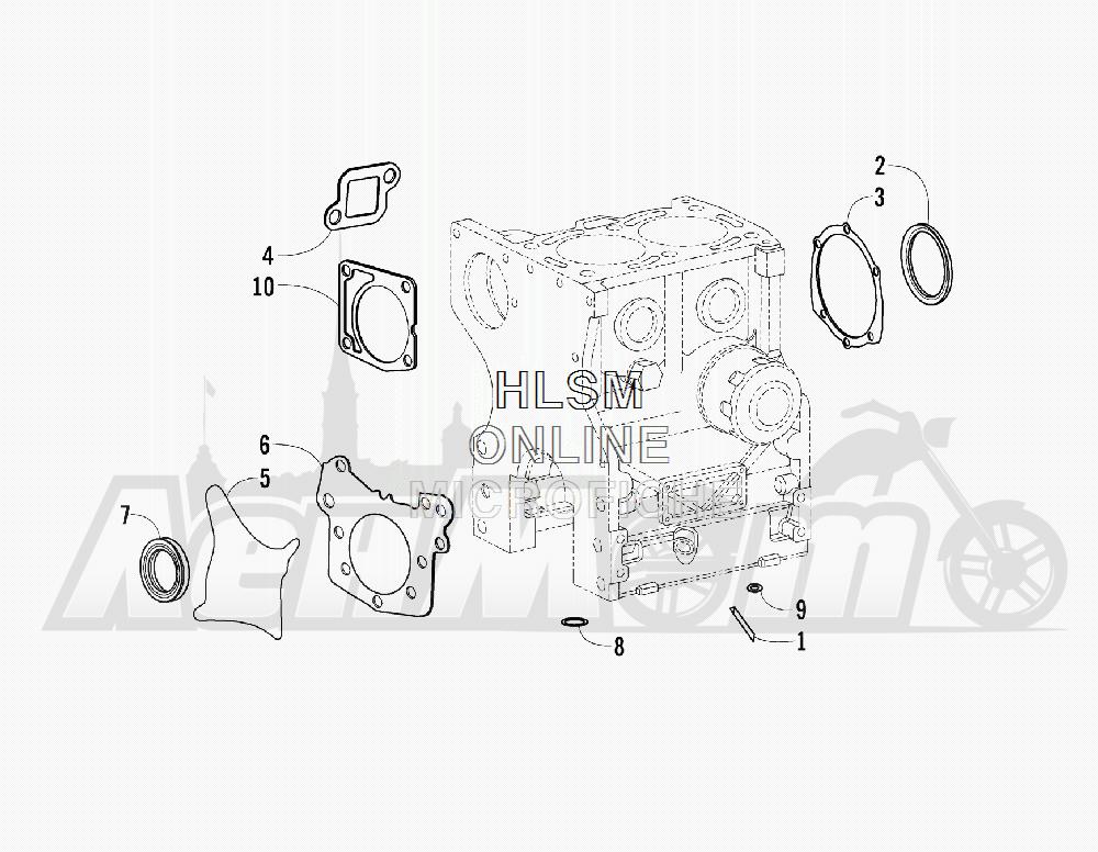 Запчасти для Квадроцикла Arctic Cat 2011 700 DIESEL GREEN [A2011ITBT4DUSG] Раздел: BOTTOM END GASKET SET ASSEMBLY | низ END набор прокладок в сборе