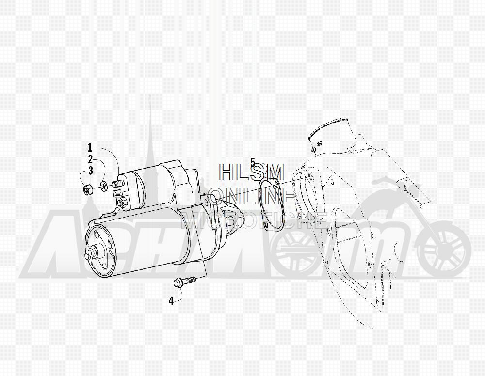 Запчасти для Квадроцикла Arctic Cat 2011 700 DIESEL GREEN INTERNATIONAL [A2011ITBT4DOSG] Раздел: STARTER MOTOR ASSEMBLY | электростартер в сборе