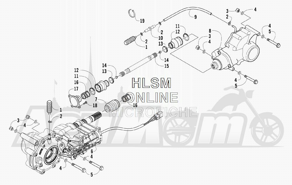 Запчасти для Квадроцикла Arctic Cat 2011 700 CRUISER PS METALLIC GRAY [A2011TCT1PUSS] Раздел: DRIVE TRAIN ASSEMBLY | трансмиссия в сборе