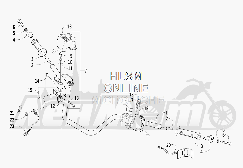 Запчасти для Квадроцикла Arctic Cat 2011 700 CRUISER PS METALLIC GRAY [A2011TCT1PUSS] Раздел: HANDLEBAR ASSEMBLY | руль в сборе