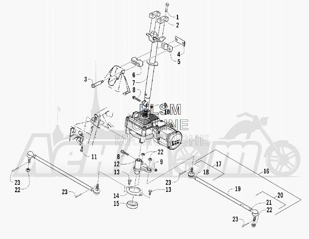 Запчасти для Квадроцикла Arctic Cat 2011 700 CRUISER PS METALLIC GRAY [A2011TCT1PUSS] Раздел: STEERING ASSEMBLY | рулевое управление в сборе