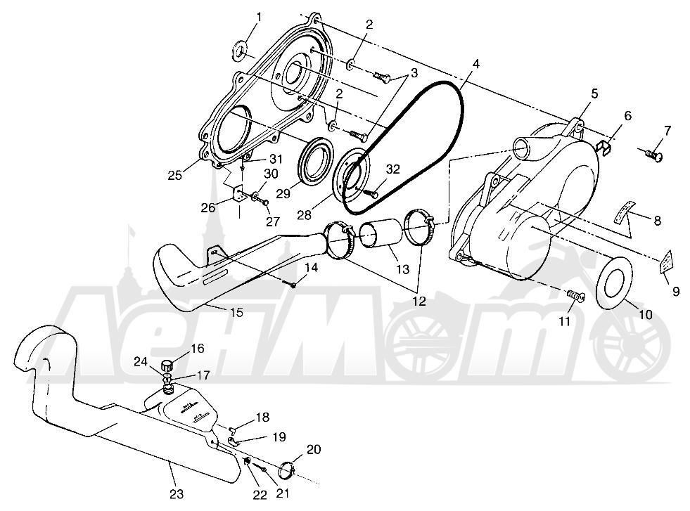 Запчасти для Квадроцикла Polaris 1997 SCRAMBER 400L - W97BC38C Раздел: CLUTCH COVER SCRAMBLER 400L W97BC38C | сцепление крышка SCRAMBLER 400L W97BC38C