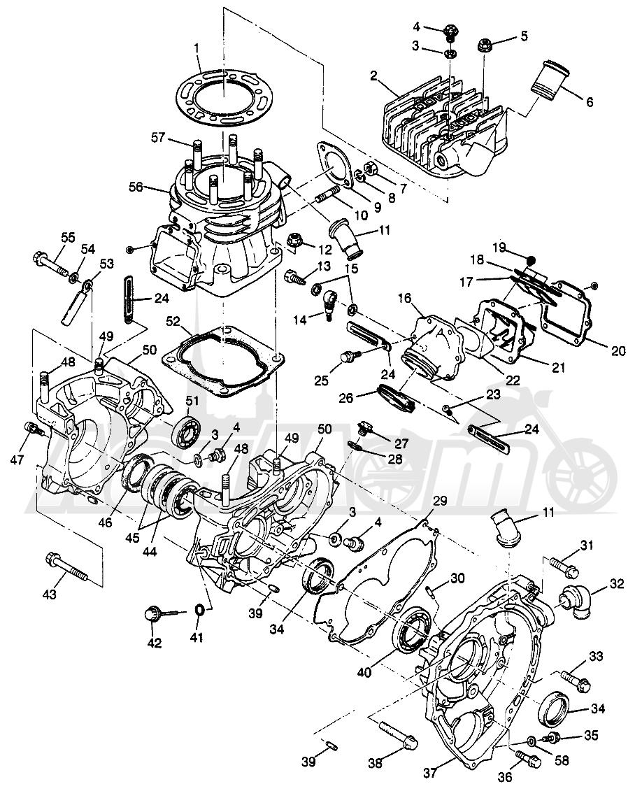 Запчасти для Квадроцикла Polaris 1997 SCRAMBER 400L - W97BC38C Раздел: CRANKCASE AND CYLINDER SCRAMBLER 400L W97BC38C   картер и цилиндр SCRAMBLER 400L W97BC38C