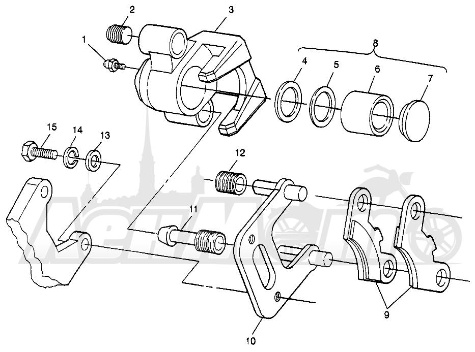 Запчасти для Квадроцикла Polaris 1997 SCRAMBER 400L - W97BC38C Раздел: FRONT BRAKE SCRAMBLER 400L W97BC38C | передний тормоз SCRAMBLER 400L W97BC38C