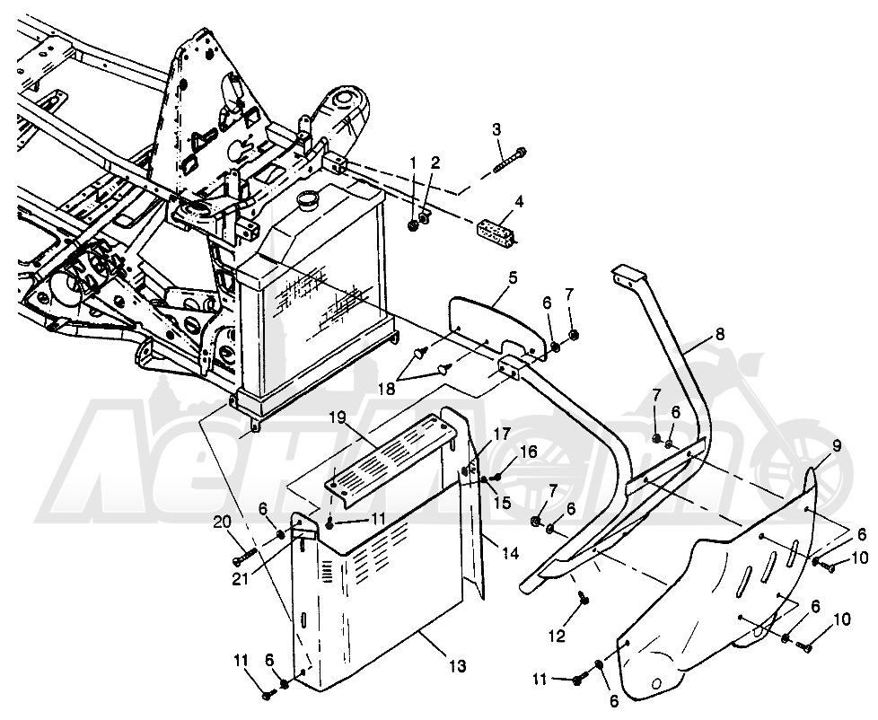 Запчасти для Квадроцикла Polaris 1997 SCRAMBER 400L - W97BC38C Раздел: FRONT BUMPER AND SHIELDS SCRAMBLER 400L W97BC38C | перед бампер и экраны SCRAMBLER 400L W97BC38C
