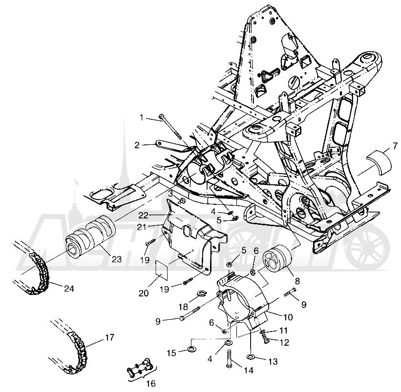 Запчасти для Квадроцикла Polaris 1997 SCRAMBER 400L - W97BC38C Раздел: FRONT DRIVE SCRAMBLER 400L W97BC38C | перед привод SCRAMBLER 400L W97BC38C