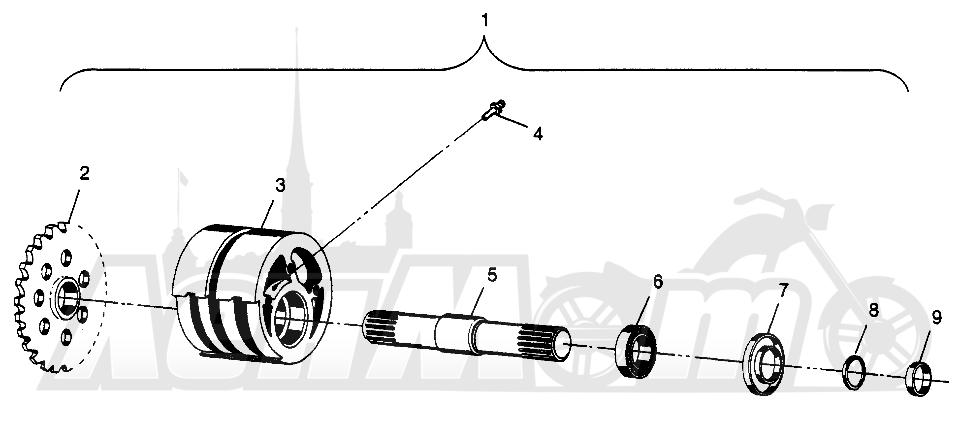 Запчасти для Квадроцикла Polaris 1997 SCRAMBER 400L - W97BC38C Раздел: FRONT TIGHTENER SCRAMBLER 400L W97BC38C | перед натяжное устройство SCRAMBLER 400L W97BC38C