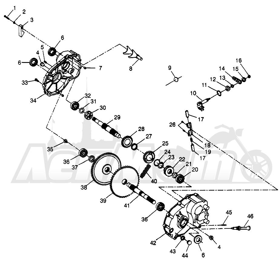 Запчасти для Квадроцикла Polaris 1997 SCRAMBER 400L - W97BC38C Раздел: GEARCASE SCRAMBLER 400L W97BC38C | коробка передач SCRAMBLER 400L W97BC38C