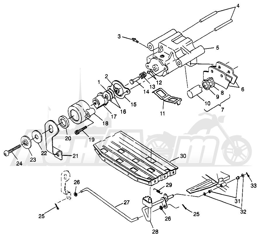 Запчасти для Квадроцикла Polaris 1997 SCRAMBER 400L - W97BC38C Раздел: REAR BRAKE SCRAMBLER 400L W97BC38C | задний тормоз SCRAMBLER 400L W97BC38C