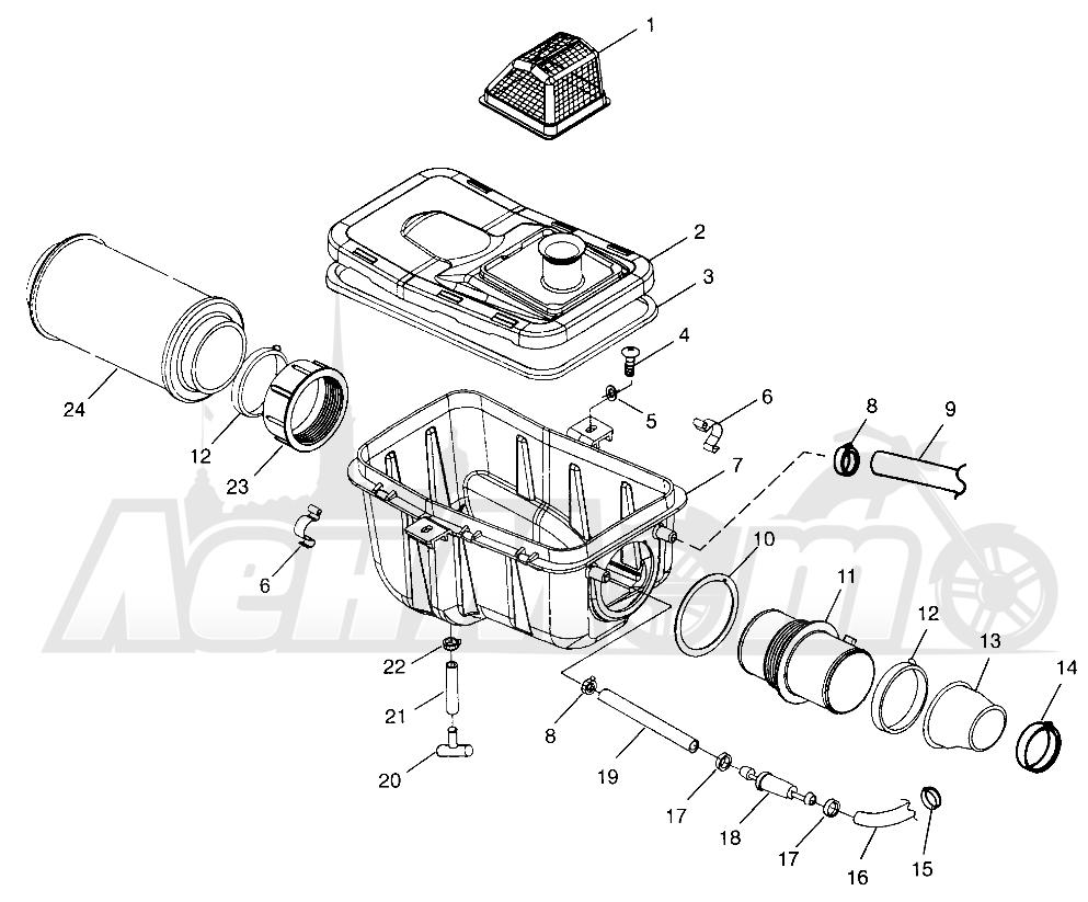 Запчасти для Квадроцикла Polaris 1997 SCRAMBLER 500 - W97BC50A Раздел: AIR BOX SCRAMBLER 500 W97BC50A | воздух короб SCRAMBLER 500 W97BC50A