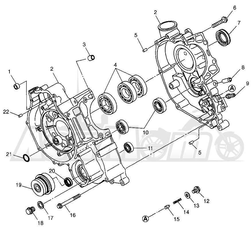 Запчасти для Квадроцикла Polaris 1997 SCRAMBLER 500 - W97BC50A Раздел: CRANKCASE SCRAMBLER 500 W97BC50A | картер SCRAMBLER 500 W97BC50A