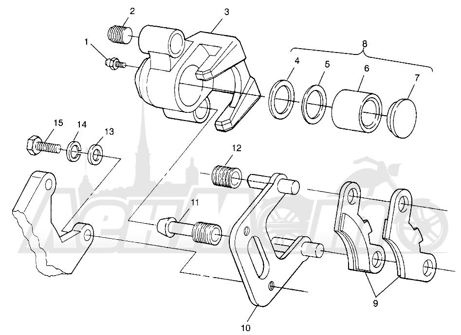 Запчасти для Квадроцикла Polaris 1997 SCRAMBLER 500 - W97BC50A Раздел: FRONT BRAKE SCRAMBLER 500 W97BC50A | передний тормоз SCRAMBLER 500 W97BC50A