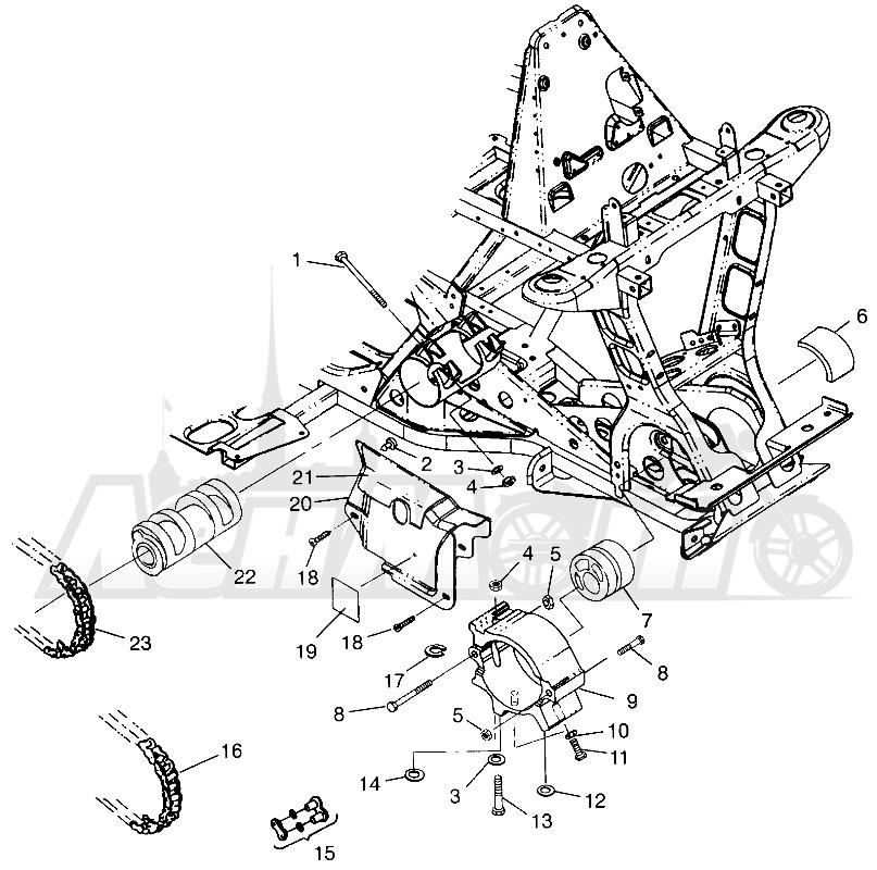 Запчасти для Квадроцикла Polaris 1997 SCRAMBLER 500 - W97BC50A Раздел: FRONT DRIVE SCRAMBLER 500 W97BC50A | перед привод SCRAMBLER 500 W97BC50A