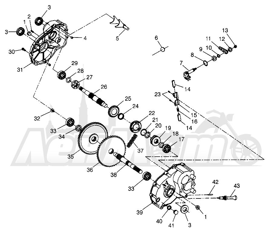 Запчасти для Квадроцикла Polaris 1997 SCRAMBLER 500 - W97BC50A Раздел: GEARCASE SCRAMBLER 500 W97BC50A | коробка передач SCRAMBLER 500 W97BC50A