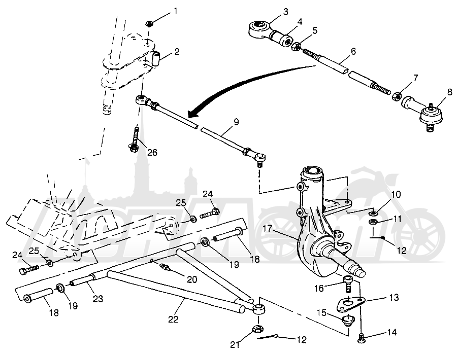 Запчасти для Квадроцикла Polaris 1997 SPORT 400L - W97BA38C Раздел: A - ARM/STRUT MOUNTING SPORT 400L W97BA38C AND TRAIL BLAZER W97BA25C | A рычаг/стойка крепления спорт 400L W97BA38C и TRAIL BLAZER W97BA25C