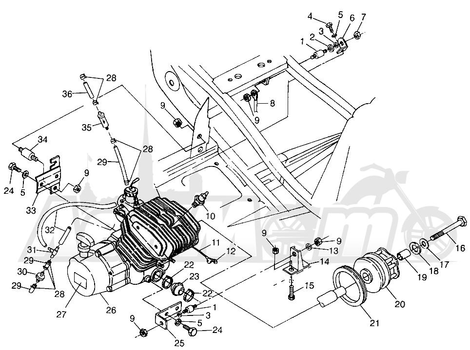 Запчасти для Квадроцикла Polaris 1997 SPORT 400L - W97BA38C Раздел: ENGINE MOUNTING (BLAZER) TRAIL BLAZER W97BA25C | двигатель крепления (BLAZER) TRAIL BLAZER W97BA25C