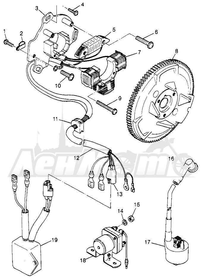 Запчасти для Квадроцикла Polaris 1997 SPORT 400L - W97BA38C Раздел: MAGNETO (SPORT) SPORT 400L W97BA38C AND TRAIL BLAZER W97BA25C | магнето (спорт) спорт 400L W97BA38C и TRAIL BLAZER W97BA25C