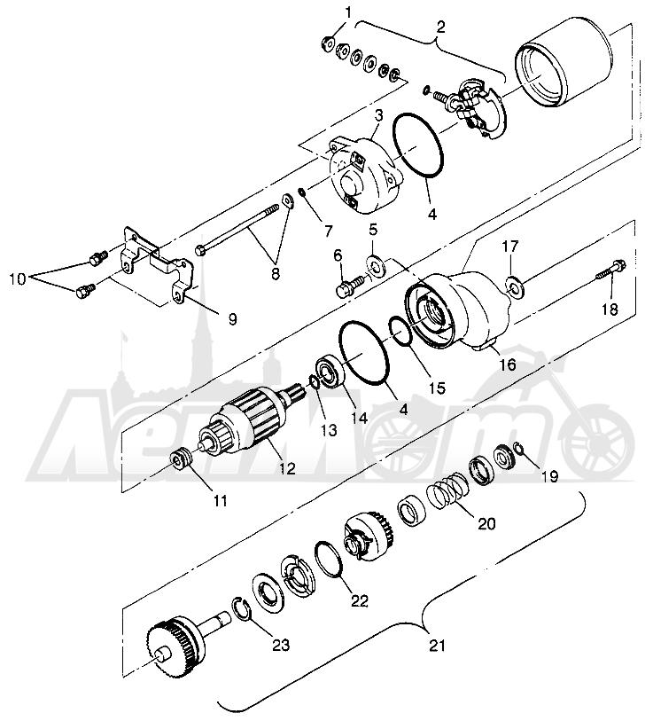 Запчасти для Квадроцикла Polaris 1997 SPORT 400L - W97BA38C Раздел: STARTING MOTOR (BLAZER) TRAIL BLAZER W97BA25C | электростартер (BLAZER) TRAIL BLAZER W97BA25C