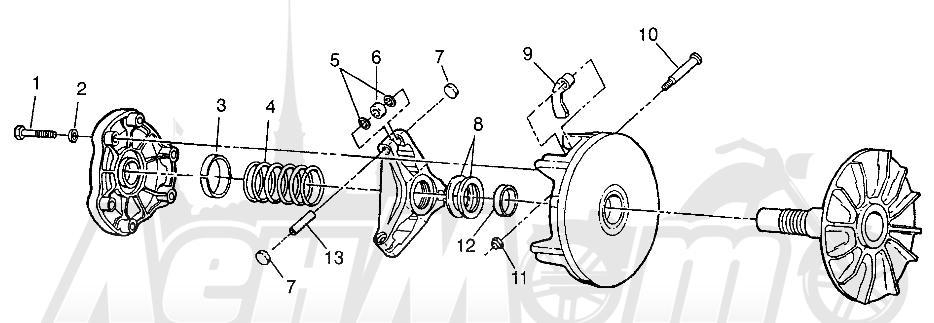 Запчасти для Квадроцикла Polaris 1997 SPORTSMAN 400L - W97AC38C Раздел: DRIVE CLUTCH SPORTSMAN 400L W97AC38C | ведущий вариатор SPORTSMAN 400L W97AC38C