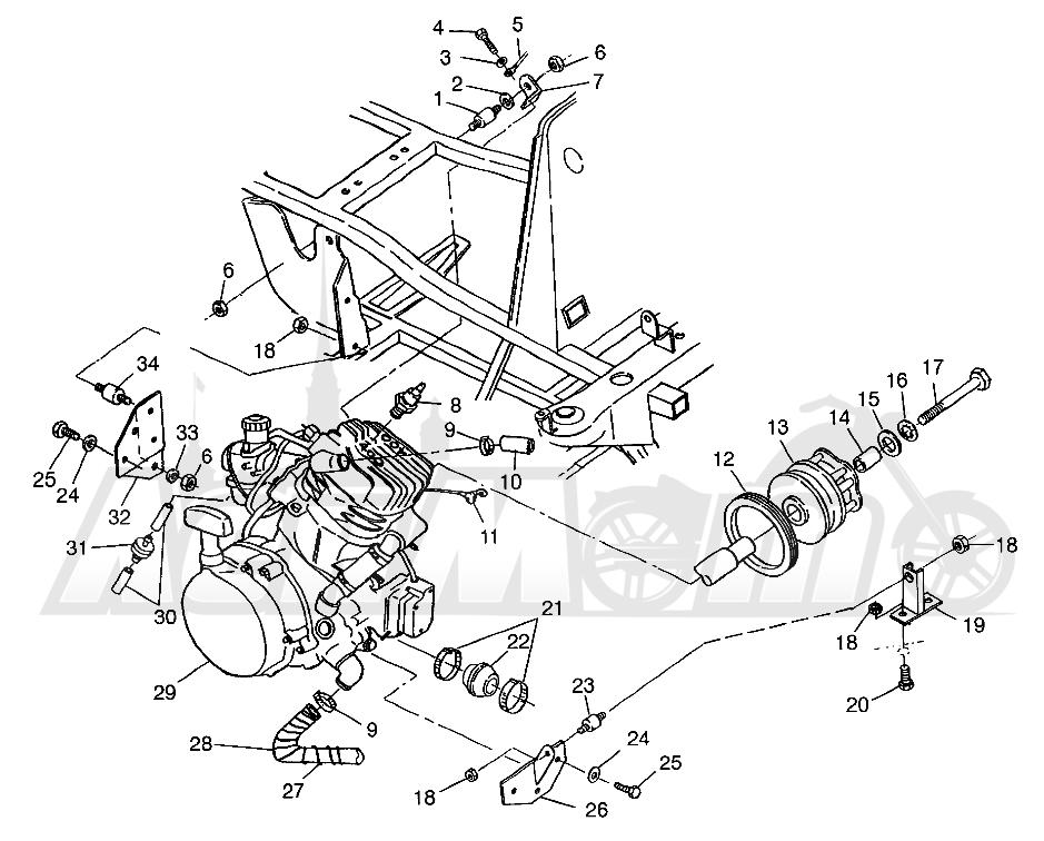 Запчасти для Квадроцикла Polaris 1997 SPORTSMAN 400L - W97AC38C Раздел: ENGINE MOUNTING SPORTSMAN 400L W97AC38C | двигатель крепления SPORTSMAN 400L W97AC38C
