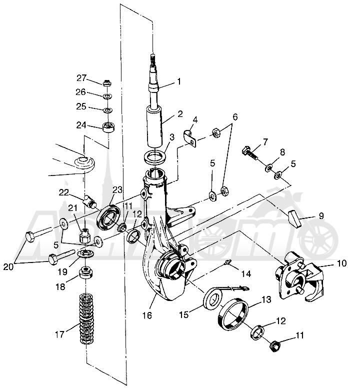 Запчасти для Квадроцикла Polaris 1997 SPORTSMAN 400L - W97AC38C Раздел: FRONT STRUT SPORTSMAN 400L W97AC38C   перед стойка SPORTSMAN 400L W97AC38C