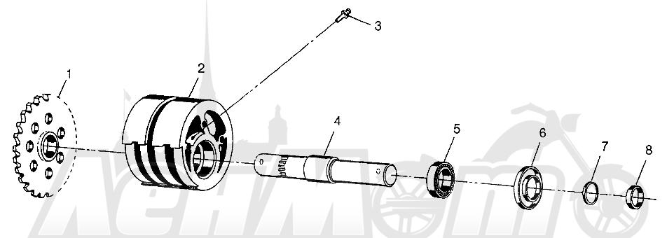 Запчасти для Квадроцикла Polaris 1997 SPORTSMAN 400L - W97AC38C Раздел: FRONT TIGHTENER SPORTSMAN 400L W97AC38C | перед натяжное устройство SPORTSMAN 400L W97AC38C