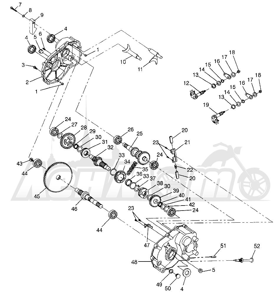 Запчасти для Квадроцикла Polaris 1997 SPORTSMAN 400L - W97AC38C Раздел: GEARCASE SPORTSMAN 400L W97AC38C   коробка передач SPORTSMAN 400L W97AC38C