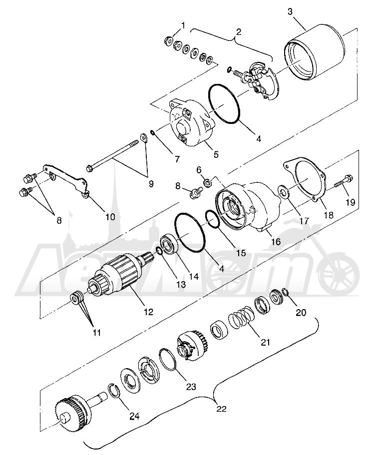 Запчасти для Квадроцикла Polaris 1997 SPORTSMAN 400L - W97AC38C Раздел: STARTING MOTOR SPORTSMAN 400L W97AC38C | электростартер SPORTSMAN 400L W97AC38C