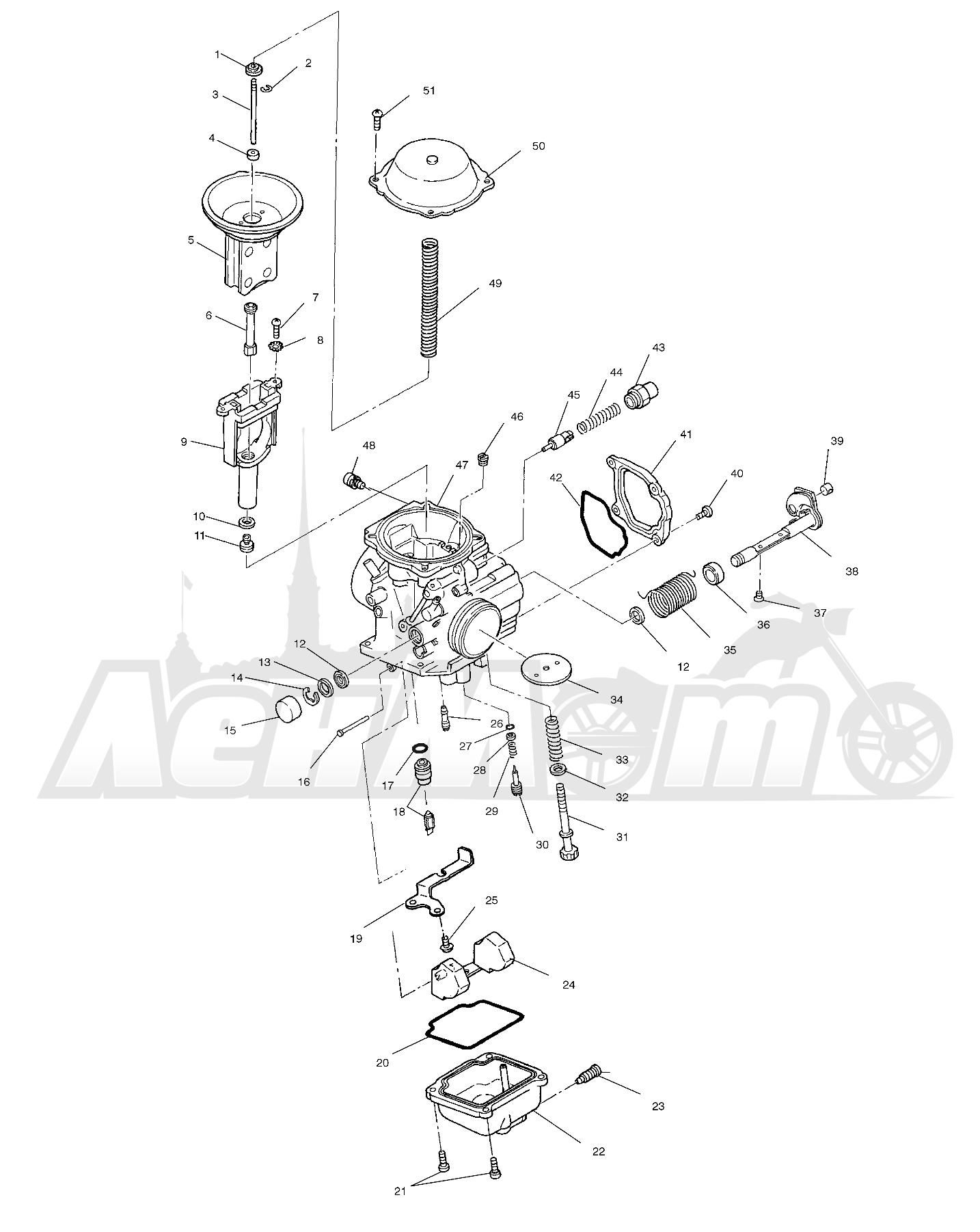 Запчасти для Квадроцикла Polaris 1997 SPORTSMAN 500 - W97CH50A Раздел: CARBURETOR - W97CH50A | карбюратор W97CH50A