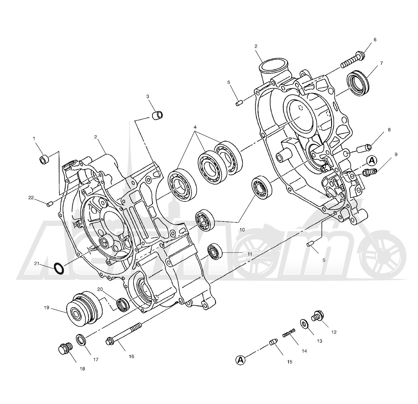 Запчасти для Квадроцикла Polaris 1997 SPORTSMAN 500 - W97CH50A Раздел: CRANKCASE - W97CH50A | картер W97CH50A