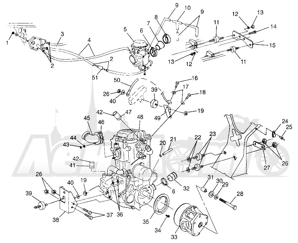 Запчасти для Квадроцикла Polaris 1997 SPORTSMAN 500 - W97CH50A Раздел: ENGINE MOUNTING SPORTSMAN 500 W97CH50A | двигатель крепления SPORTSMAN 500 W97CH50A