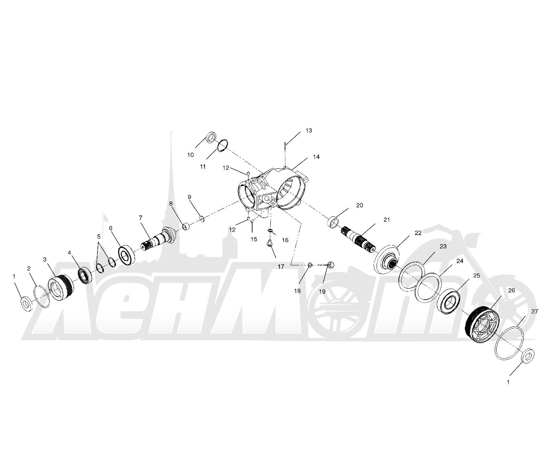 Запчасти для Квадроцикла Polaris 1997 SPORTSMAN 500 - W97CH50A Раздел: FRONT HOUSING - W97CH50A | перед корпус, кожух W97CH50A
