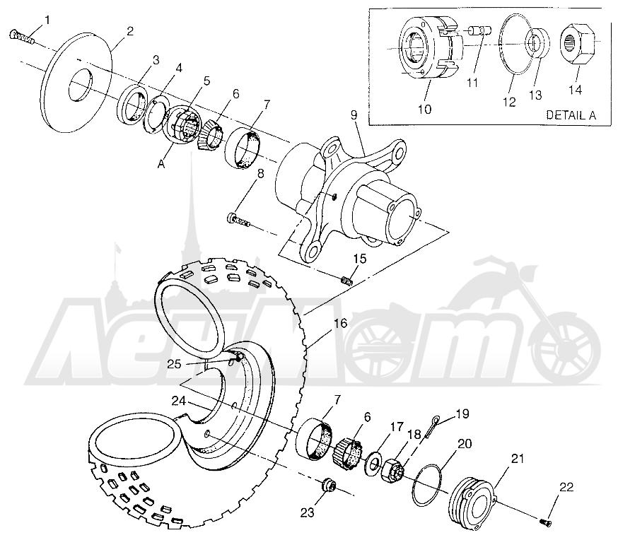 Запчасти для Квадроцикла Polaris 1997 SPORTSMAN 500 - W97CH50A Раздел: FRONT WHEEL SPORTSMAN 500 W97CH50A | переднее колесо SPORTSMAN 500 W97CH50A