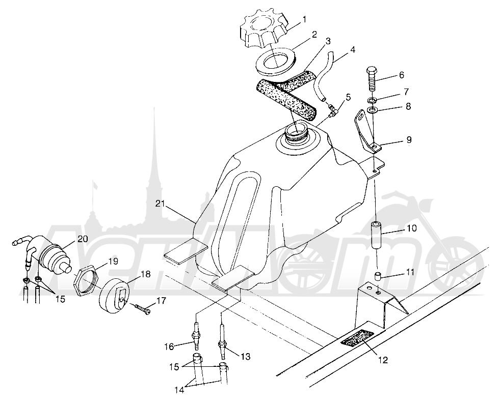 Запчасти для Квадроцикла Polaris 1997 SPORTSMAN 500 - W97CH50A Раздел: FUEL TANK SPORTSMAN 500 W97CH50A | топливный бак SPORTSMAN 500 W97CH50A