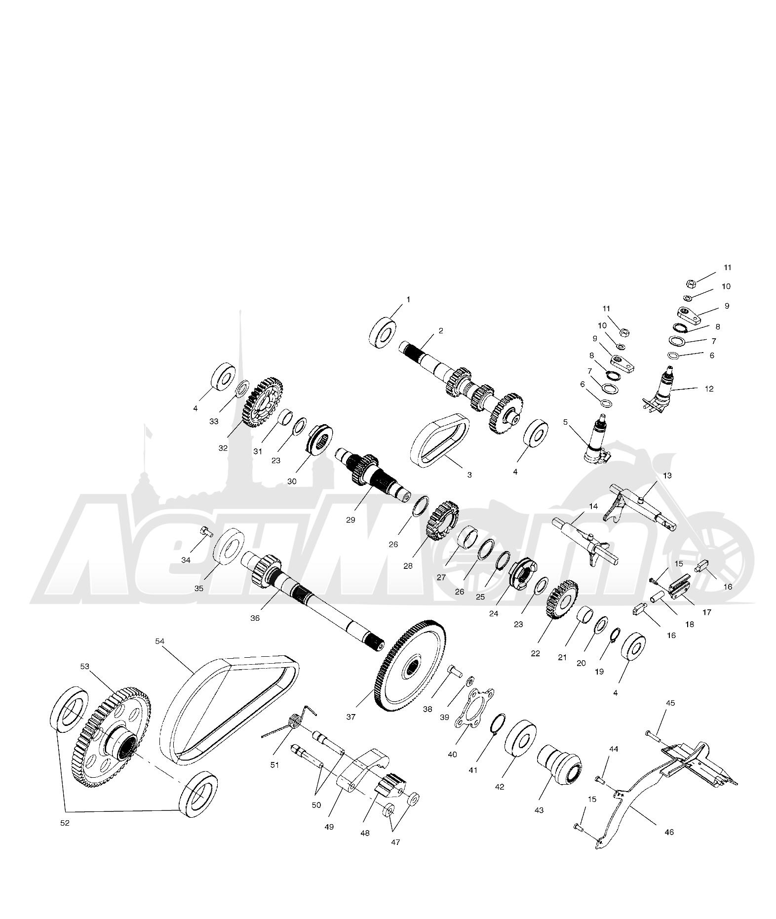 Запчасти для Квадроцикла Polaris 1997 SPORTSMAN 500 - W97CH50A Раздел: GEARCASE (INTERNAL COMPONENTS) - W97CH50A | коробка передач (INTERNAL компоненты) W97CH50A