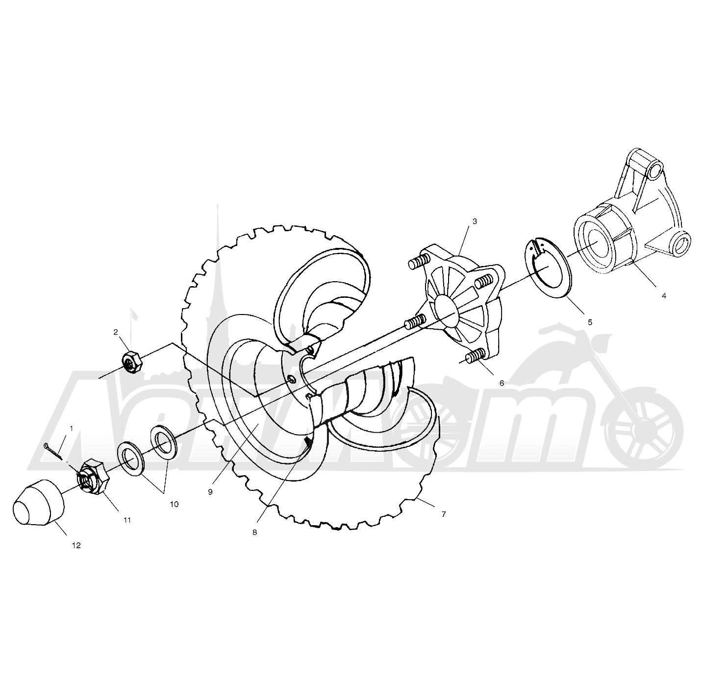 Запчасти для Квадроцикла Polaris 1997 SPORTSMAN 500 - W97CH50A Раздел: REAR WHEEL DRIVE - W97CH50A   заднее колесо привод W97CH50A